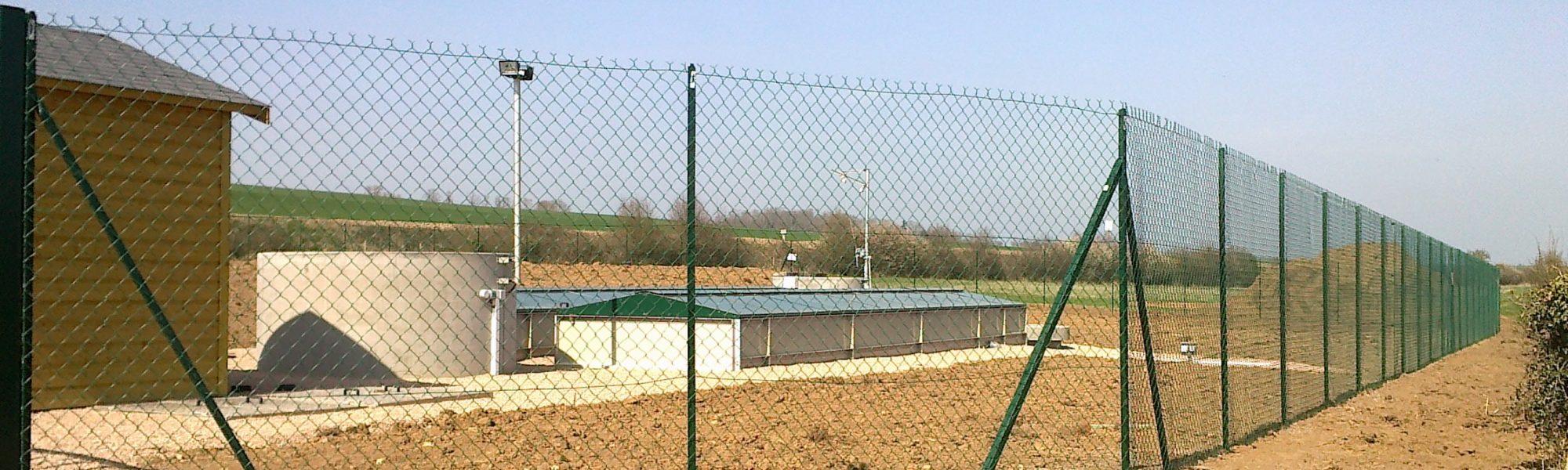 Renfort clôture station épuration